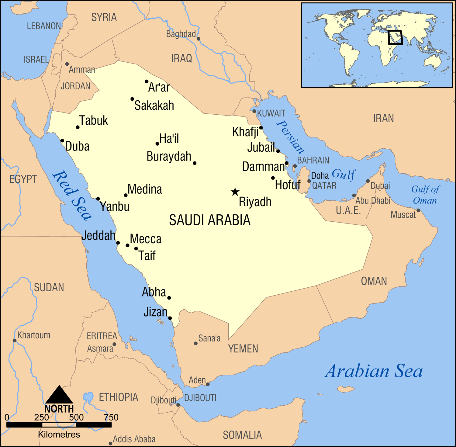 Riyadh Saudi Arabia Map