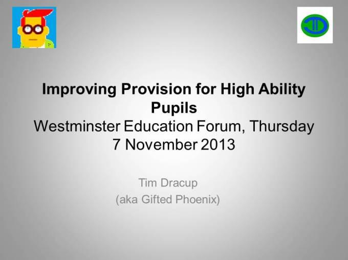 Westminster Forum Presentation 7 November 2013 without notes
