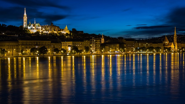 Hungary budapest by night