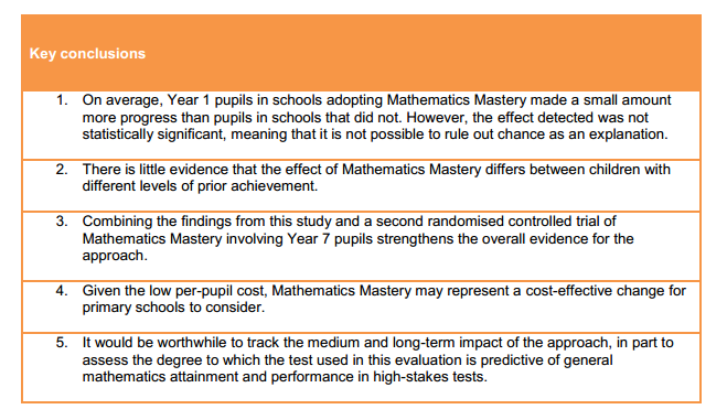 EEF maths mastery table 4