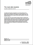 The most able students: An update on progress since June 2013